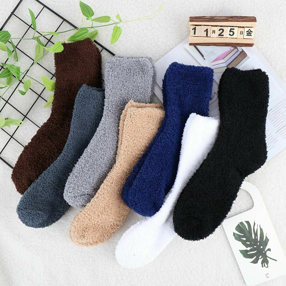 Fluffy Super Cozy Cashmere Velvet Soft Socks Thicken Winter Warm Bed Floor Home Slipper Sock Men Women Unisex