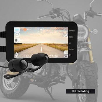 WIFI 1080P HD Waterproof Camera 4 Motorcycle DVR Front Rear Dual Lens Driving Video Recorder Dash Cam Moto Bike FHD Recording bigbigroad for volvo xc90 2015 2017 car dvr driving video recorder dual cameras wifi dvr dash cam black box fhd 1080p g sensor