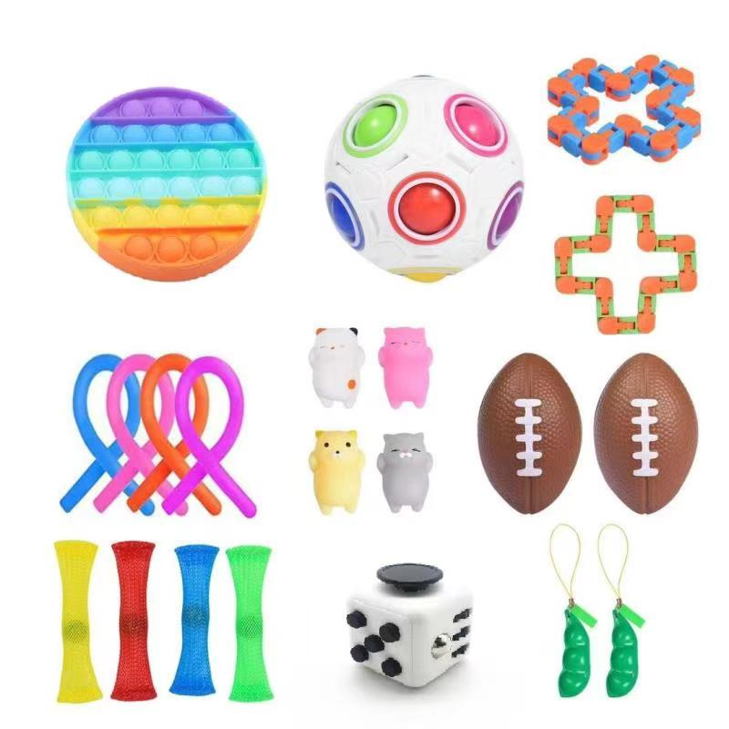 Fidget-Toy-Set Decompression Anxiety Relief Stress-Toy Sensory Adult for Kids