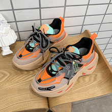 Chunky Sneakers Women flats Sneakers Shoes Platform Sneakers for Women Shoes Lace-Up Zapatos Mujer Dad Sneakers Tenis Feminino 2018 new brand shoes woman women flats couples sneakers casual zapatos mujer tenis feminino chaussures femme lace up