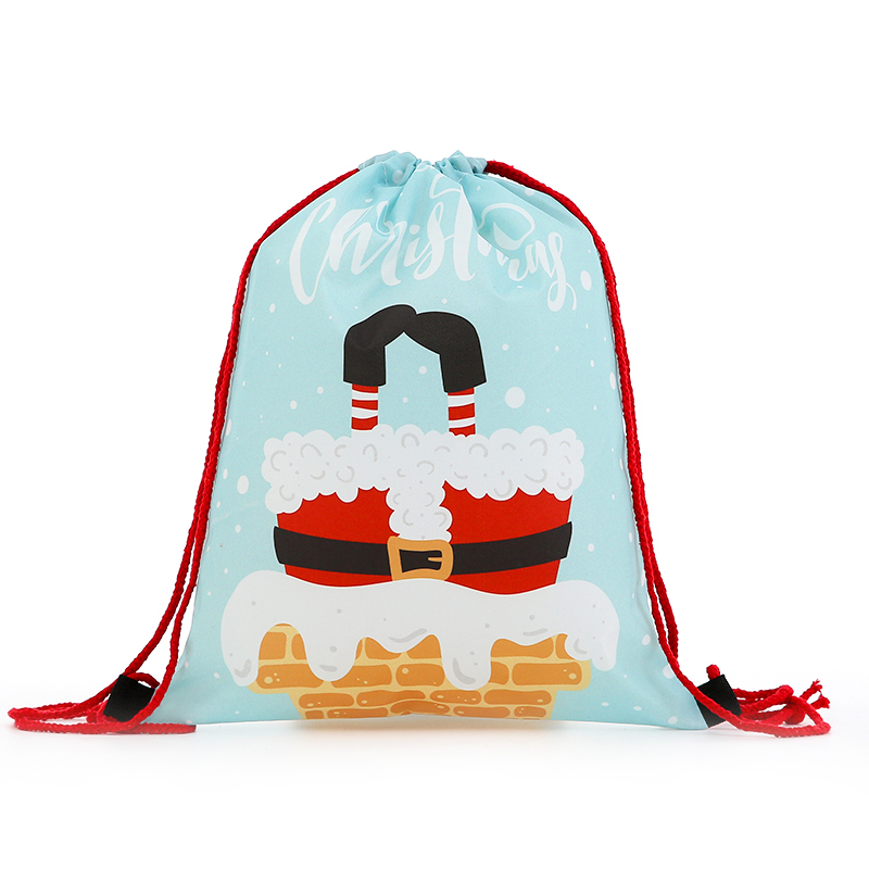 New Backpack Fashion Women Mini Drawstring Christmas Backpack 3D Printing Travel Softback Bags Men Mochila Drawstring Bag Girs