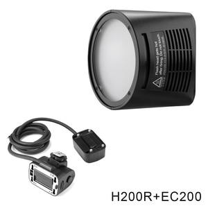 Image 3 - Godox AD200 V1 PRO Glash Accessory WITSTRO H200R Round Flash Head and EC 200 Extension Head AK R1 Color temperature reflector