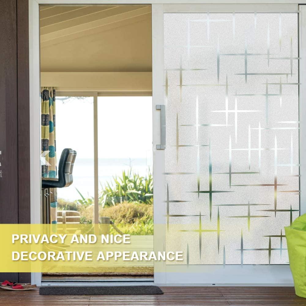 Lucky yyj 3D confidentialité fenêtre Film PVC vinyle statique accroche fenêtre autocollants pour porte en verre maison chambre bureau contrôle de la chaleur Anti UV