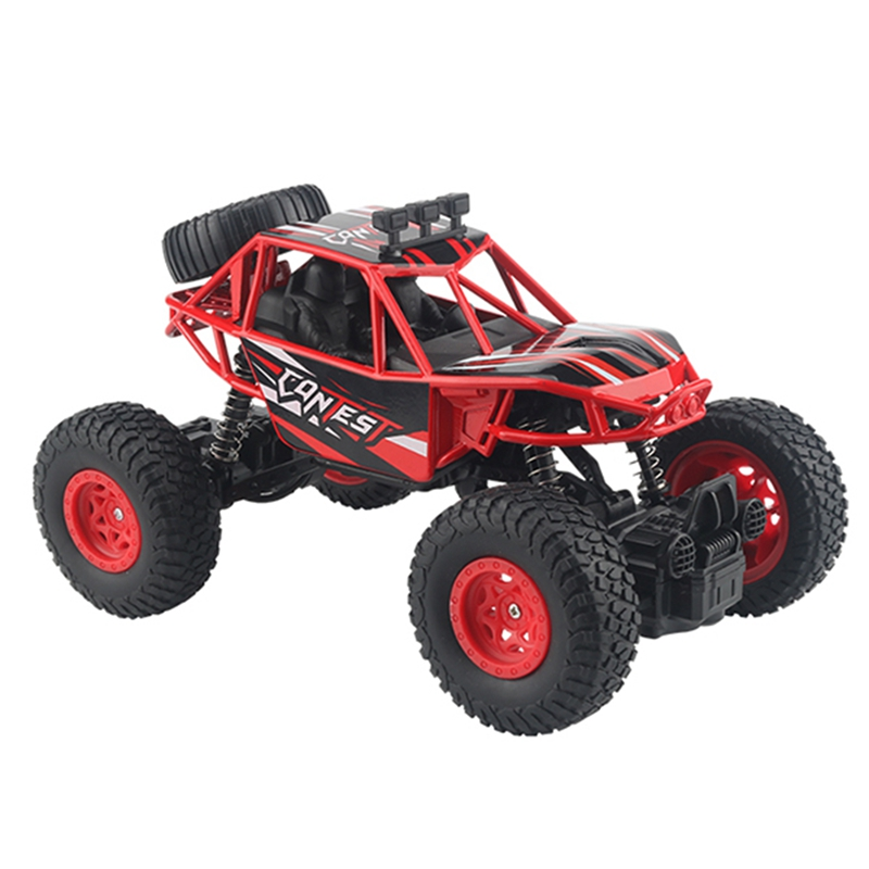 Hot-Rc Car 4Wd 2.4Ghz Climbing Car Bigfoot Car Remote Control Model Off-Road Vehicle Toy,Red