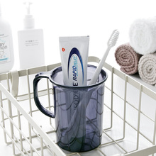 Toothbrush-Cup Washing-Cup Bathroom Plastic Household Transparent Delicate Modern Solid-Color