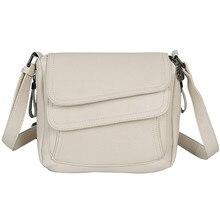 Bolso de mano de piel suave para mujer, bandolera de hombro de diseñador, color blanco, 2020