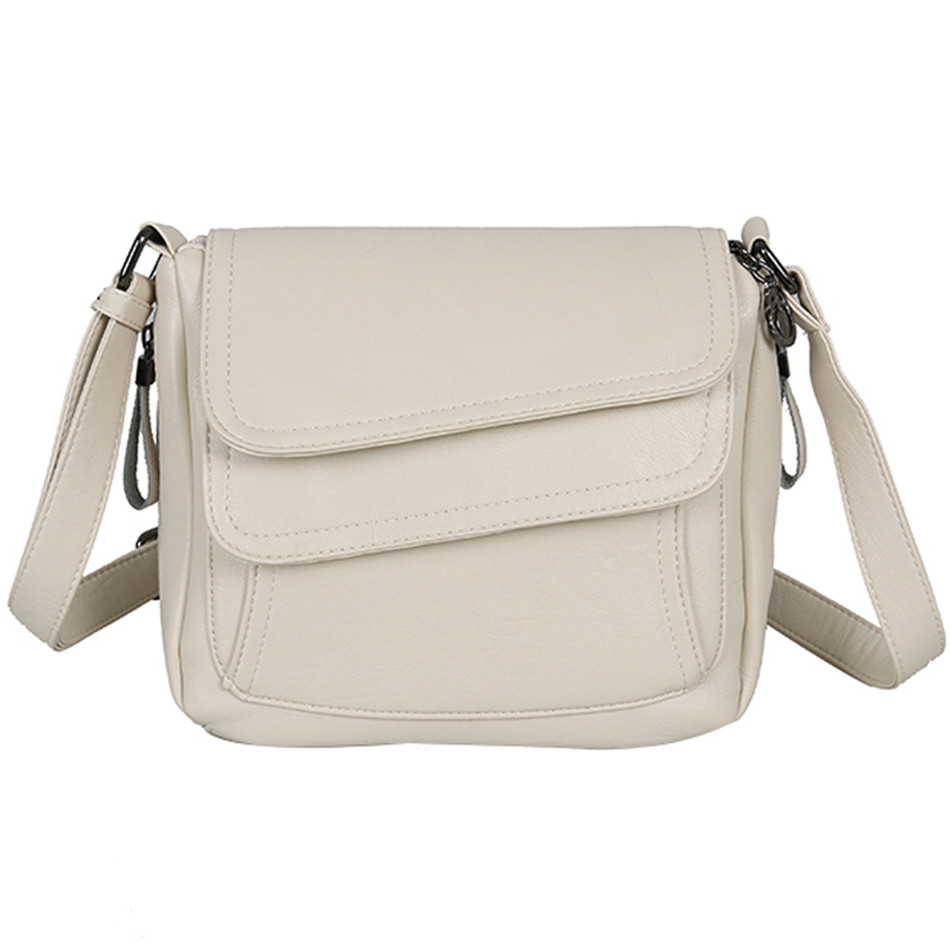 Winter Style White Handbag Leather Luxury Handbags Women Bags Designer Female Shoulder Messenger Bag Mother Bags For Women 2019