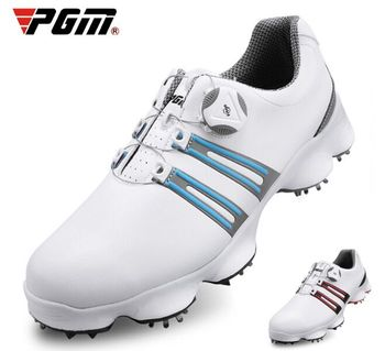 PGM 2019 golf shoes golf men's shoes wide version soles rotating shoelaces waterproof and breathable