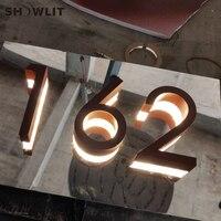 Iluminado Sinais de Construção Edifício Iluminação Números Separados Modern Custom Made Números de Porta de Casa