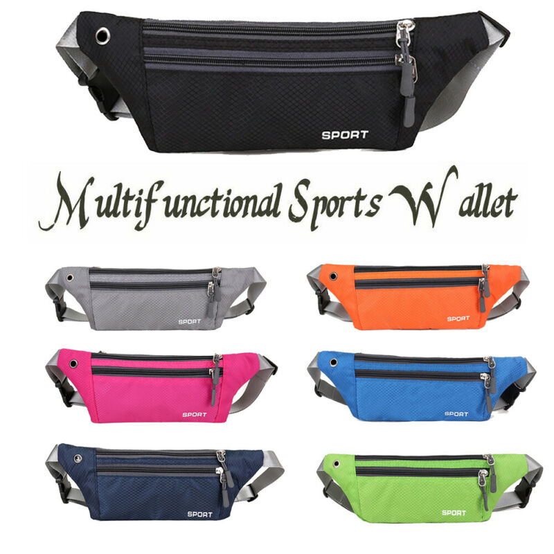 New Outdoor Multi-Function Running Pockets Men Sports Fanny Waist Pack Chest Bag Phone Pouch Waist Bag Sports Travel Fanny Pack