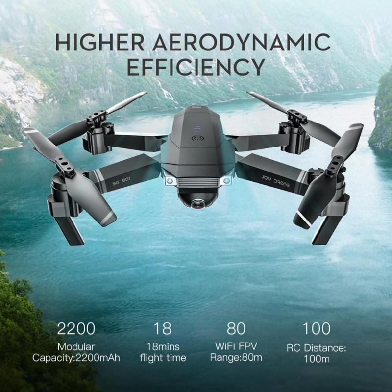 lowest price SG901 Brushless 4K FPV Camera RC Drone Quadcopter w One Battery Color Box Remote Control Helicopter