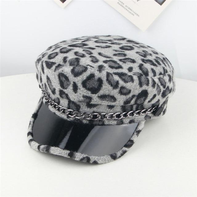 Baby Kids Soft Wool Beret Hat Toddler Leopard Artist Woolen Winter Warm Cap 3-8Y