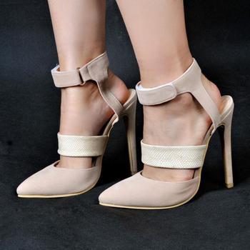 ASHIOFU Handmade Women's High Heel Pumps Hook&loop Party Prom Dress Shoes Slingback Large Size Evening Fashion Pumps Shoes XD253