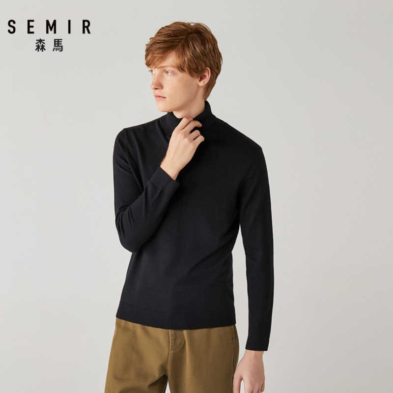 Semir sweter męski młody zimowy sweter z golfem 2019 ciepły sweter trend długa koszula ciepło wewnątrz