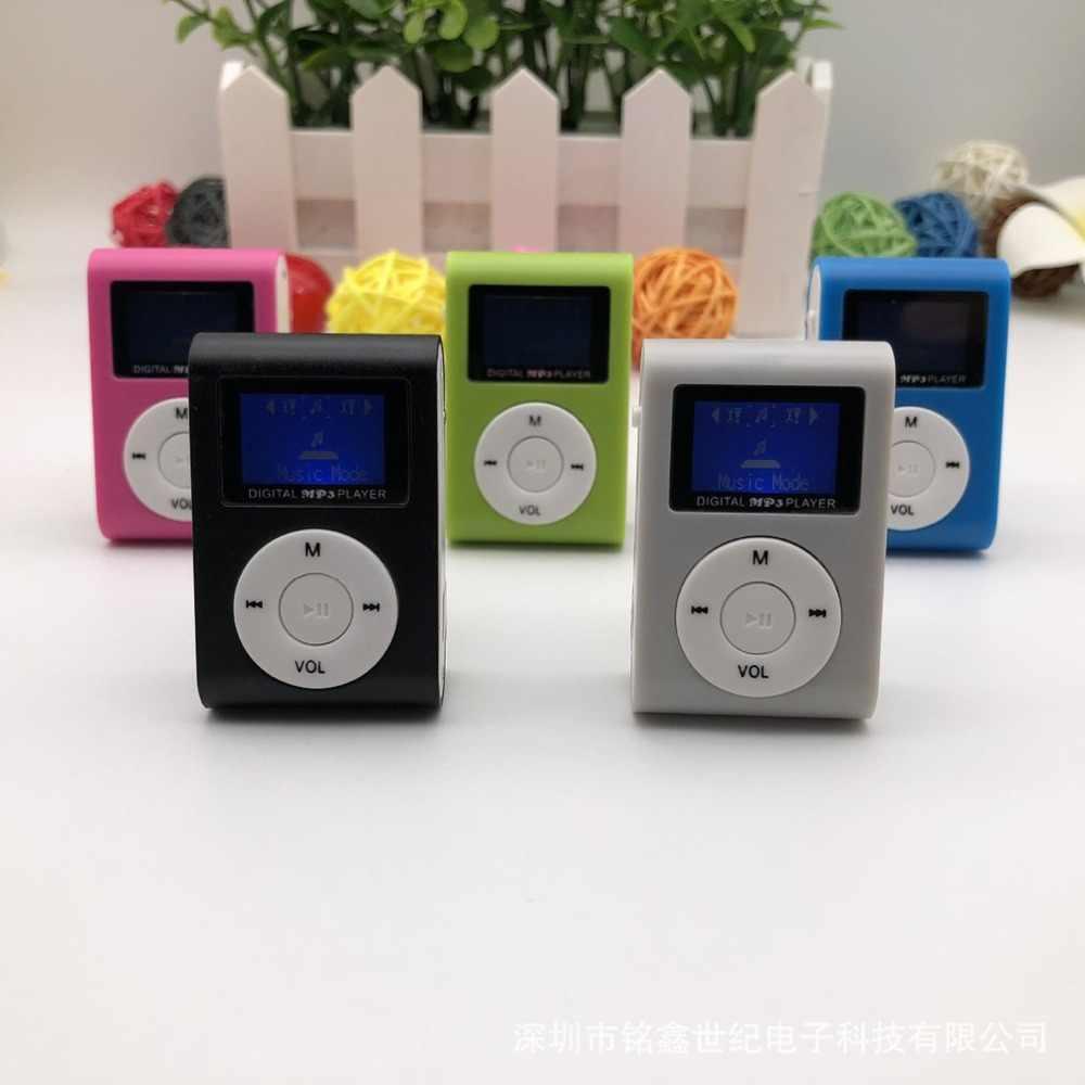 Mini reproductor de MP3 portátil de tamaño pequeño con pantalla LCD reproductor de MP3 reproductor de música compatible con tarjeta TF de 32GB mejor regalo