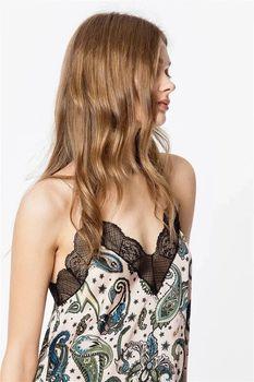 Design wiskoza Camisole odzież damska seksowna wiskozowa chusta tanie i dobre opinie VNXIFM Osób w wieku 18-35 lat Koronki CAMIS20033109 Indie Folk Drukuj Krótki
