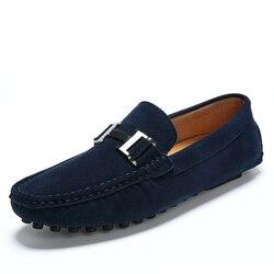 Dos homens de Couro Dos Homens Preguiçosos Sapatos Sapatos Casuais Conforto Do Escritório Interior