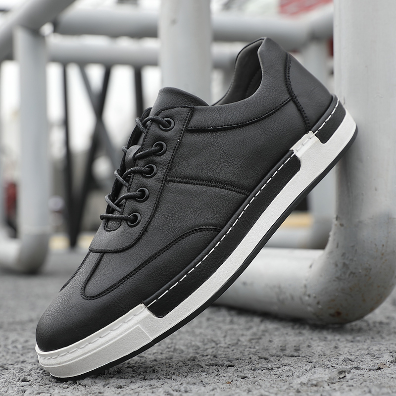 BIMUDUIYU Men Fashion Handmade Casual Shoes Big Size 38 48 Sneakers for Men Outdoor Leather Lace Up Footwear Men 39 s Flat Shoes in Men 39 s Casual Shoes from Shoes