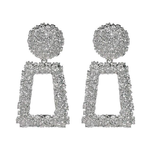 2019 6 9cm Big Vintage Earrings For Women Gold Color Geometric Statement Earring 2019 Metal Earring.jpg 640x640 - 2019 6.9cm Big Vintage Earrings For Women Gold Color Geometric Statement Earring 2019 Metal Earring Hanging Fashion Jewelry