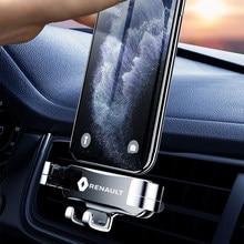 Suporte do telefone de metal suporte do telefone móvel de navegação do carro suporte para renault kangoo kadjar trafic twingo scenic clio 2 3 4