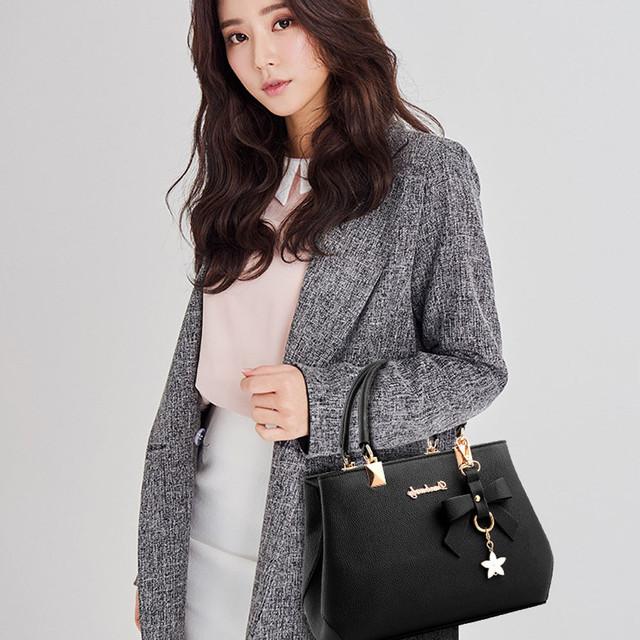 Bow Pendant Women Satchel Shoulder Bag Leather Tote Bag Ladies Hand Bags Crossbody Bags For Women Large Handbag Sac Main Femme