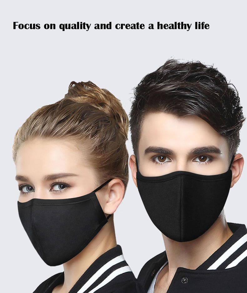 Reusable Washable Adult 3D Face Mouth Mask Anti Dust Bacteria Virus Breathable Mouth Respirator With Activated Carbon Filter