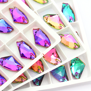 Top Quality Brilliant Color Sew on Rhinestone Applique crystal stones Flat Back for clothing /jewelry design DIY/ craft dress(China)