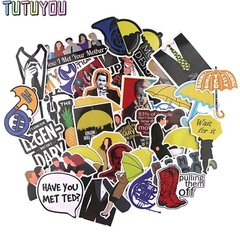 PC1214 37pcs/set How I Met Your Mother TV Series Scrapbooking Stickers Decal For Guitar Laptop Luggage Fridge Graffiti Sticker blinghero horror ghost stickers 37pcs set waterproof scrapbooking sticker laptop luggage guitar bicycle sticker decal bh0583