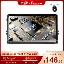 Eunavi 9 2 Din AndroidรถวิทยุสเตอริโอมัลติมีเดียสำหรับVolkswagen VW Polo Jetta Tiguan Passat B6 Cc Fabia RNS510 GPS WIFI 4G