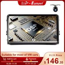 Eunavi 9 2 الدين راديو السيارة الاندورويد ستيريو الوسائط المتعددة لفولكس واجن فولكس فاجن بولو جيتا تيجوان باسات b6 cc فابيا RNS510 لتحديد المواقع واي فاي 4G