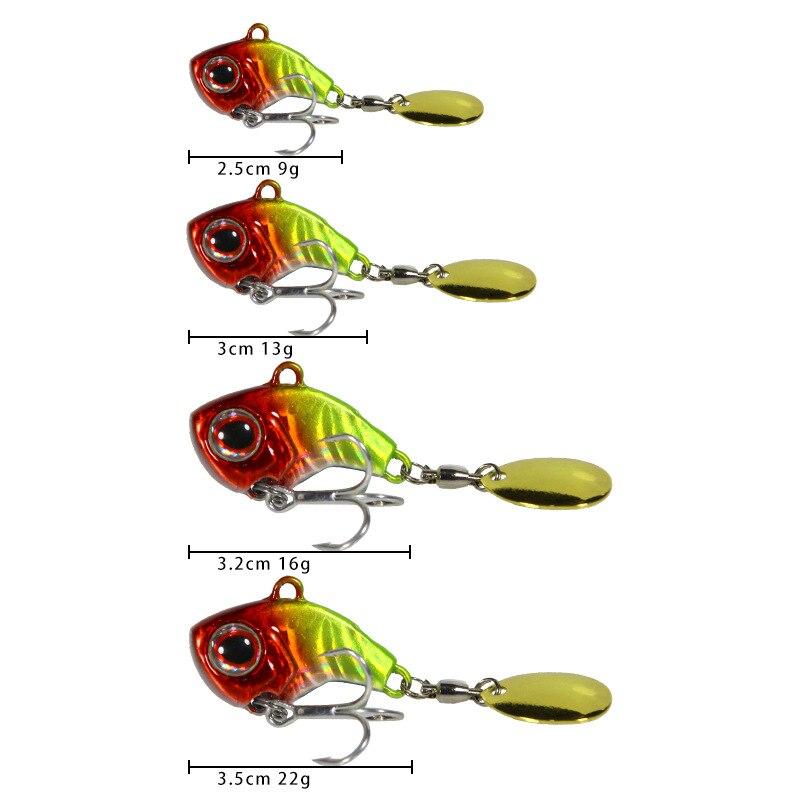 Металлическая мини VIB с ложкой рыболовная приманка 9/13/16/22 г рыболовные Крючки рыболовные снасти Pin Crankbait вибрации Спиннер Тонущая приманка воблер|Наживки|   | АлиЭкспресс