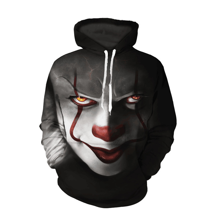 New Horror Movie Clown Hoodie 3d Skull Sweatshirt Plus Size S-6XL Sportswear Tracksuit Men Women Unisex Pullover