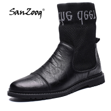Men Shoes Botines Designer Ankle High-Top Winter Casual Cuir Uomo Bottes Homme Stivaletti