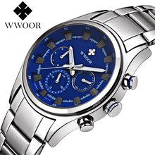Aat Erkek WWOOR Chronograph Watches Mens Top Brand Luxury Bl