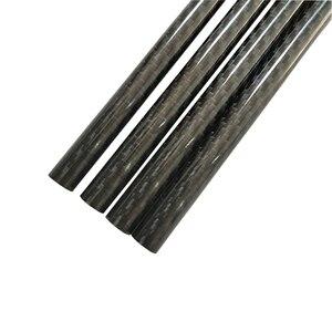 Image 3 - 4Pcs 3K Carbon Fiber Ronde Buis Plain Glossy Lengte 500Mm Hoge Hardheid Od 8Mm 10Mm 12Mm 16Mm 20Mm 25Mm 30Mm