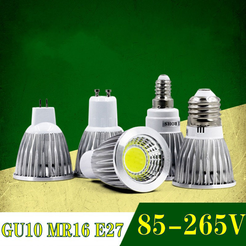 Super Bright GU10 led Bulb Light Dimmable lampada Decoration Ampoule Warm/White 220V 9W 12W 15W cob lampada led GU10 led lamp image