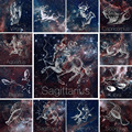 Алмазная мозаика «сделай сам», картина со знаками Зодиака, 12 созвездий, звездное небо, вышивка с животными, фантастическая мозаика, домашнее...