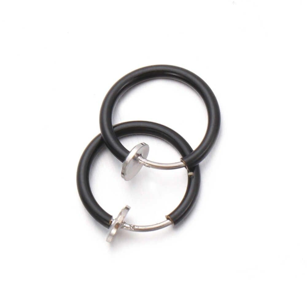 יוניסקס 2 יח'\סט מזויף האף טבעת גותיקה פאנק שפתיים אוזן האף מזויף על מחץ ללא פירסינג חישוק שפתיים חישוק טבעות עגילים