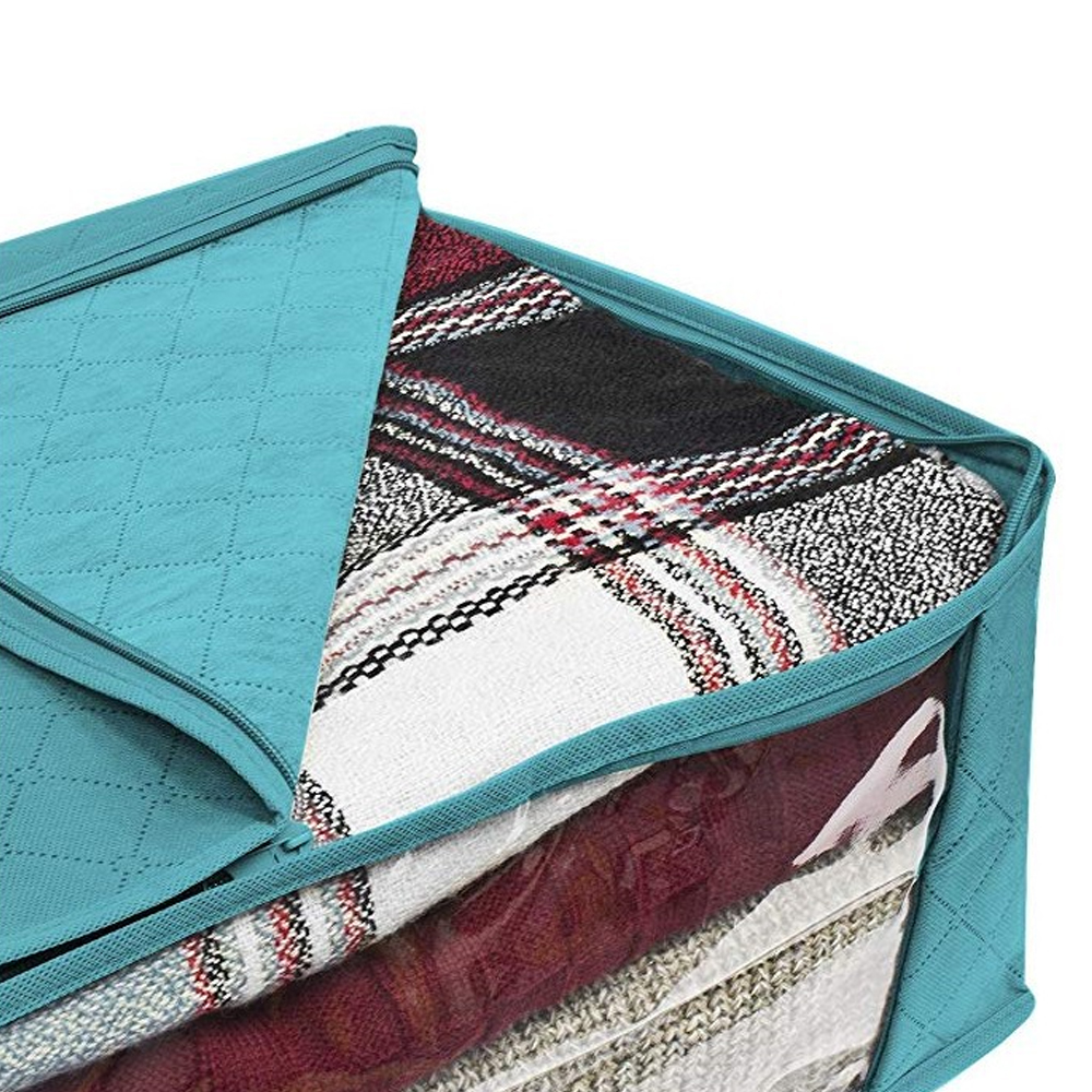 Складной тканевый ящик для хранения грязной одежды, чехол на молнии для игрушек, стеганая коробка для хранения, прозрачный влагостойкий Органайзер