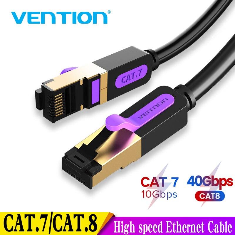 Venção Cabo de Rede SFTP Lan Cabo Ethernet RJ 45 RJ45 Cat8 Patch Cord para PlayStation PS 4 7 Roteador Portátil Gato Cabo Ethernet
