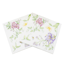 100 Pcs Printed Feature Flower Pattern Paper Napkins For Event & Party Decoration Tissue Paper Towels Daily Necessities vintage printed rose flower dragonfly paper napkins for event