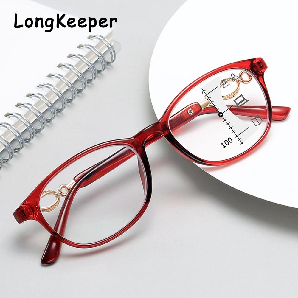 Мужские прогрессивные очки для чтения, мультифокальный анти синий светильник, очки для чтения, для женщин и мужчин, близкое к дальнему виду, увеличительная дальнозоркость + 1,0 1,5|Женские очки для чтения|   | АлиЭкспресс