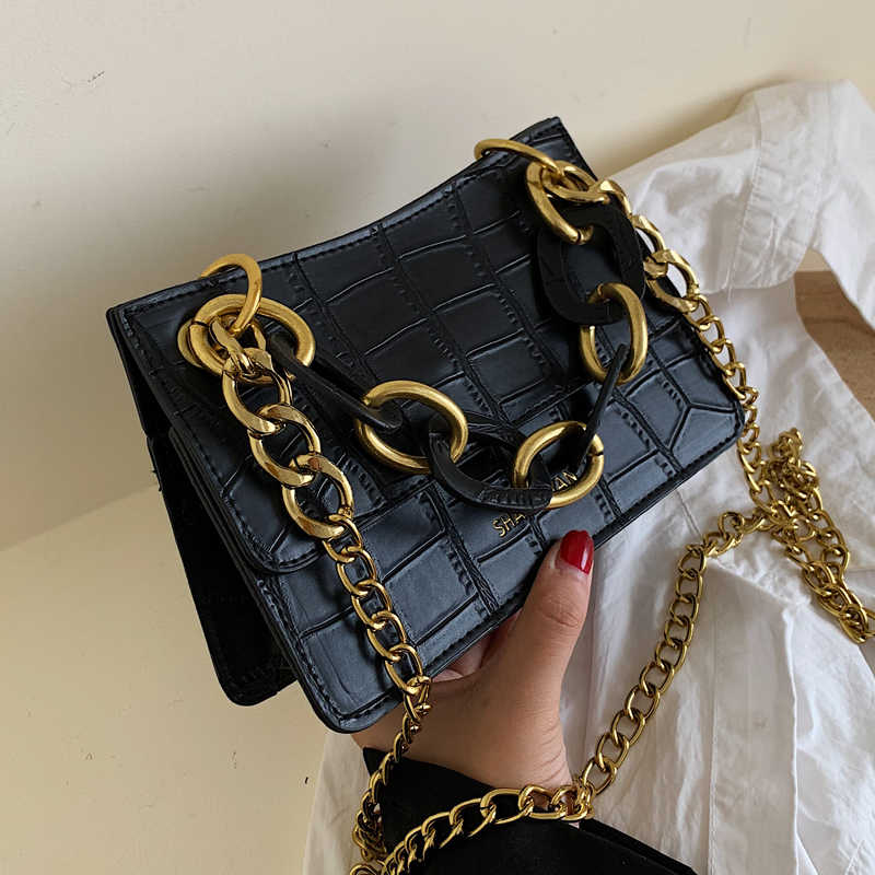 Stone Pattern Retro Crossbody Bags For Women 2019 Chain Messenger Shoulder Bag Lady Fashion Quality Handbags
