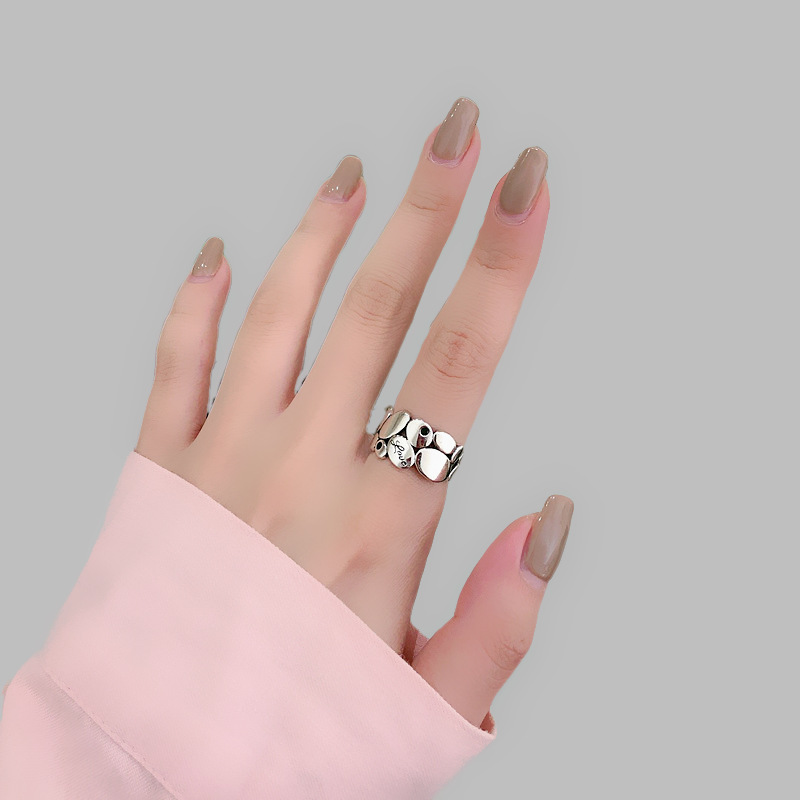 Luxury Brand Silver Color  Leaf Rings for Women Antique Rings Wedding Jewelry Valentines Gifts 6