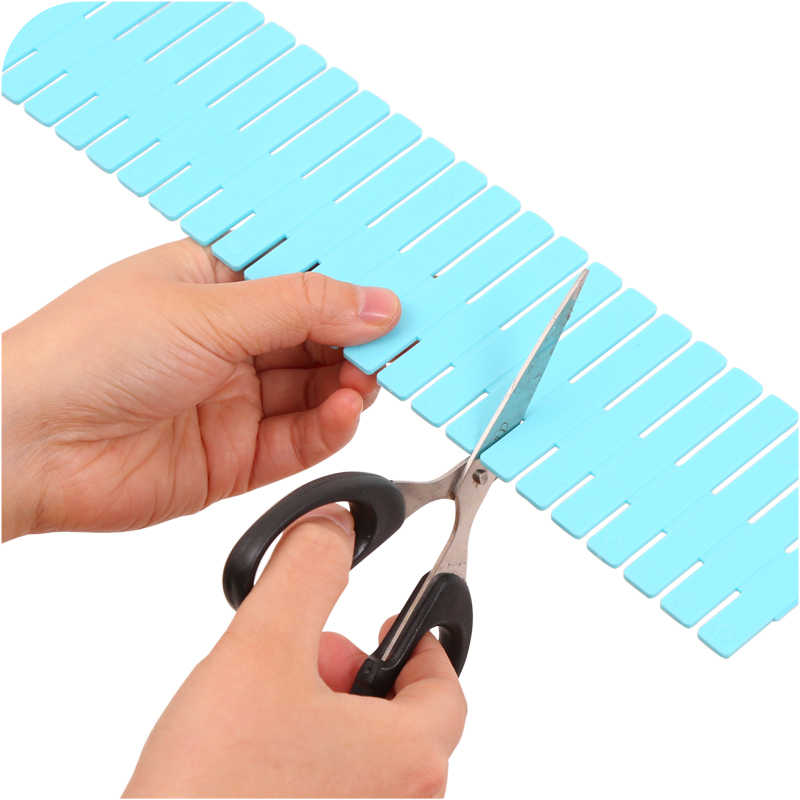 4Pcs DIY Plastik Laci Grid Separator Divider Partisi Penyimpanan Organizer Pakaian Dalam Kaus Kaki Makeup Papan Mx7051643