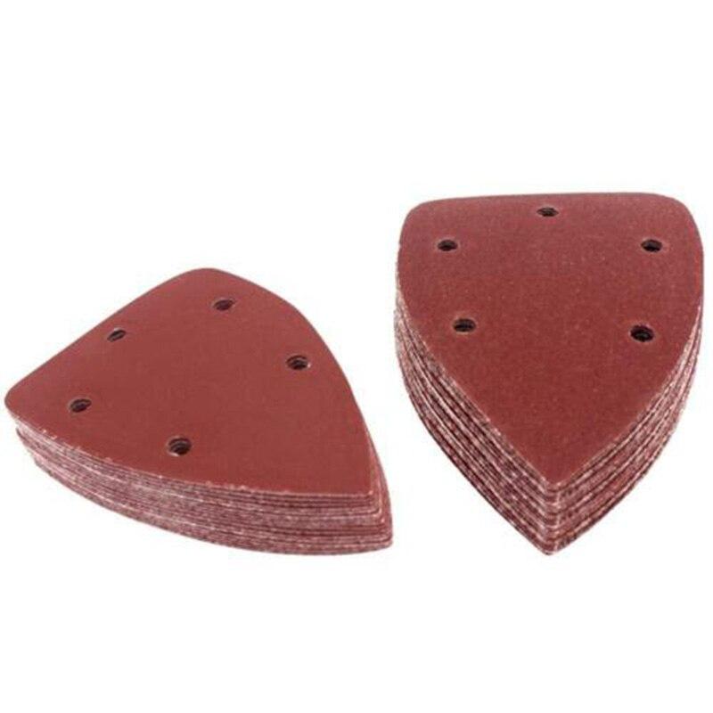 6 x Mixte Grit Hook and Loop détails 140 mm Feuilles abrasives Palm Sander Mouse Pads