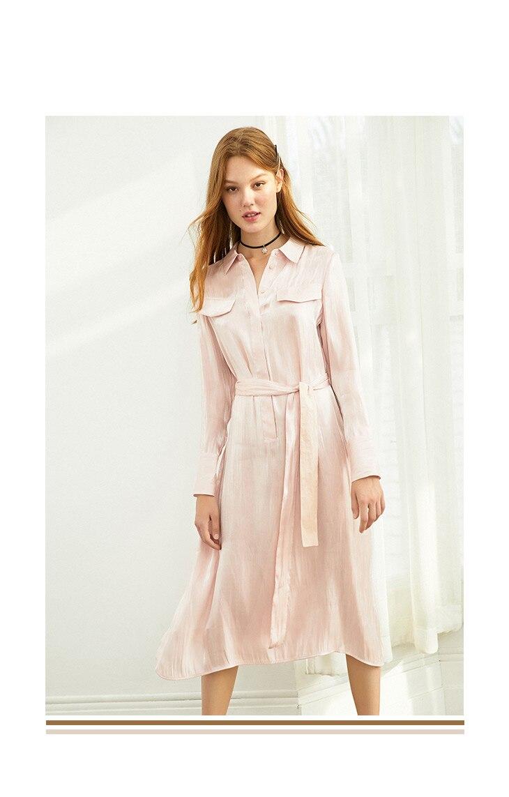 ONLY 19 Autumn Glossy Shirt Dress | 119307623 12