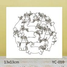 ZhuoAng unicorn Transparent seal / sealed DIY scrapbook album decoration card seamless