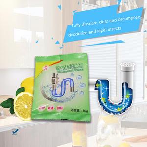 50g Kitchen Toilet Bathtub Sewer Cleaning Powder Pipe Dredging Tool Deodorant