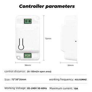 Image 5 - SMATRUL 1/2/3 Gang 433Mhz inteligentny Push bezprzewodowy włącznik ścienny światło RF pilot zdalnego sterowania 110V 220V odbiornik przycisk Home lampa sufitowa